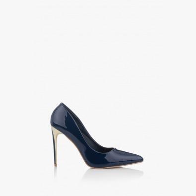 Дамски обувки на висок ток в синьо Наоми