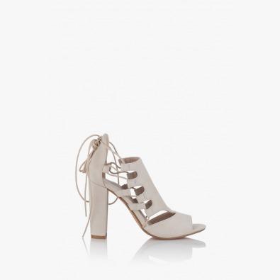 Бежови дамски сандали Кики