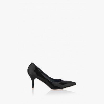 Класически дамски обувки на нисък ток Наоми в черно