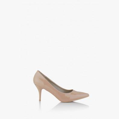 Дамски обувки на нискък ток Наоми в бежово