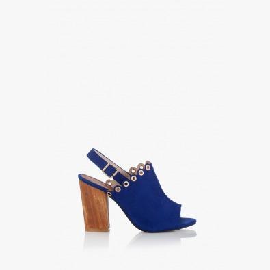 Дамски сандали на ток в синьо Марсела