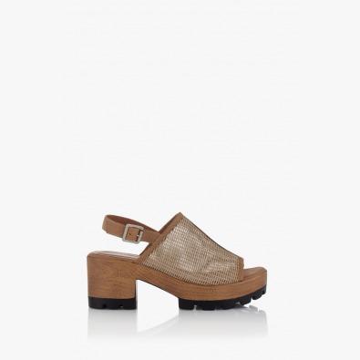 Дамски сандали на платформа с мрежа Ирене
