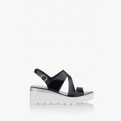 Дамски сандали с платформа Инес в черно