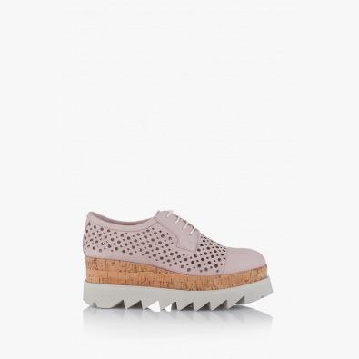 Дамски обувки с перфорация на платформа Алисан