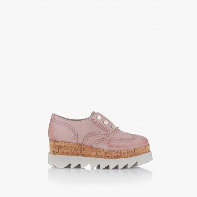 Дамски обувки на платформа в пудра Алисан
