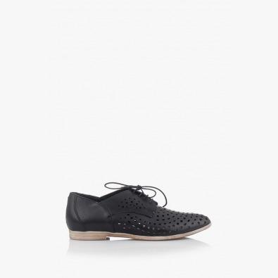 Черни дамски обувки с перфорация Канди