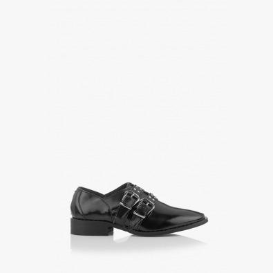 Черни дамски обувки Хейдън с капси