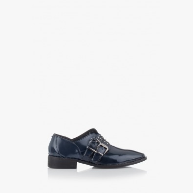 Дамски сини обувки с аксесоари Хейдън
