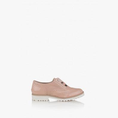 Дамски обувки на ниско ходило Адисан в пудра