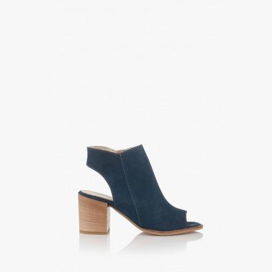 Дамски велурени сандали в синьо Амбел