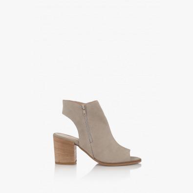 Бежови дамски сандали Амбел