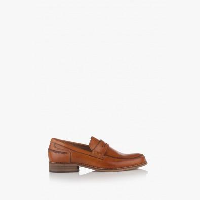 Мъжки кожени обувки карамел Колидж