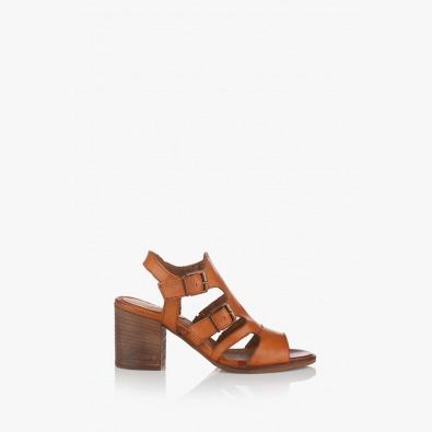 Дамски кожени сандали Габро карамел
