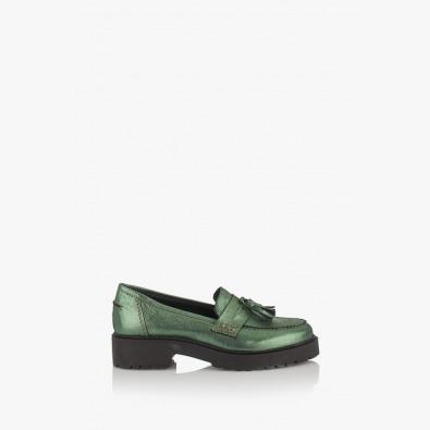Зелени дамски обувки с аксесоар Мона