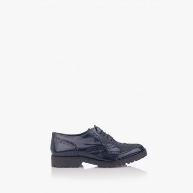 Сини дамски обувки Грейс с връзки