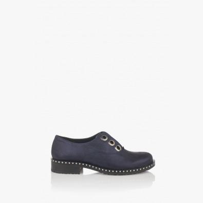 Сини дамски обувки на ниско ходило Карин