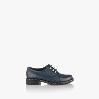 Сини дамски обувки Сиа с връзки