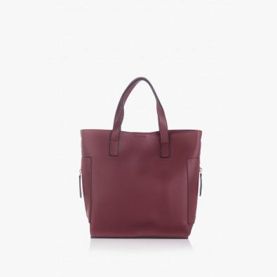Дамска чанта в бордо Нанси