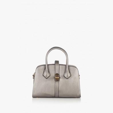 Сребриста дамска чанта Джослин
