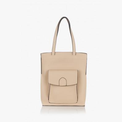 Дамска чанта в бежов цвят Прешъс