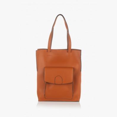 Дамска чанта цвят карамел Прешъс