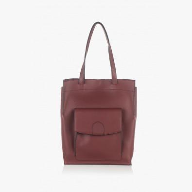 Елегантна дамска чанта в бордо Прешъс