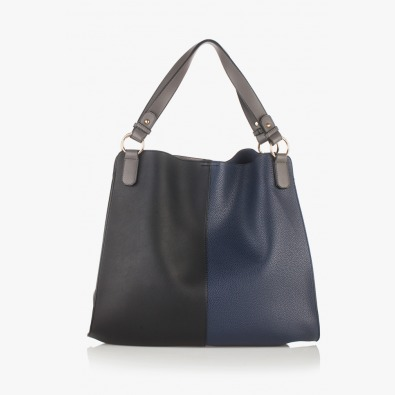 Дамска чанта Бернадет в синьо и черно