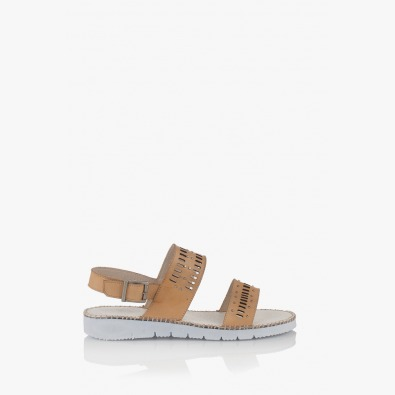 Дамски сандали цвят крема Ева