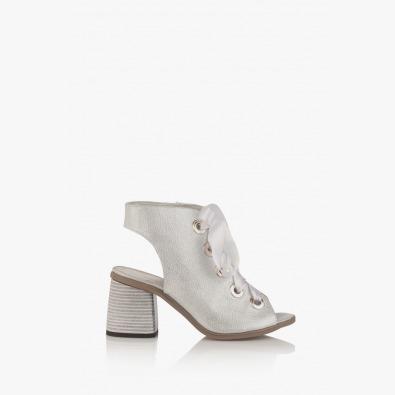 Сребристи дамски сандали Рейн