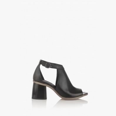 Черни дамски кожени сандали Чикаго