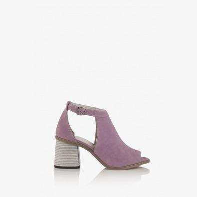 Велурени дамски сандали в лилаво Чикаго