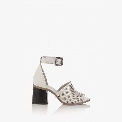 Бели дамски сандали Сторми
