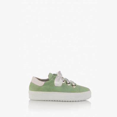 Зелени дамски велурени спортни обувки Дейзи