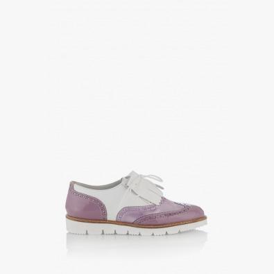 Дамски кожени обувки с аксесоар Адисан