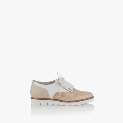 Ежедневени дамски обувки в бежов цвят Адисан