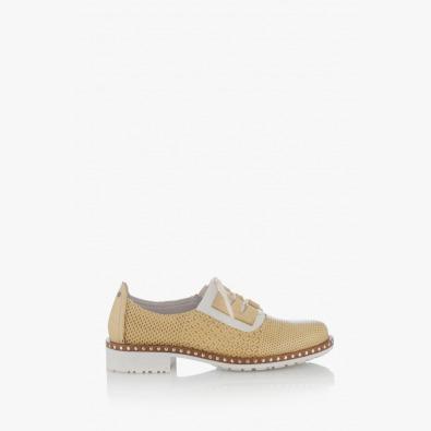 Жълти дамски обувки с щампа Евелин