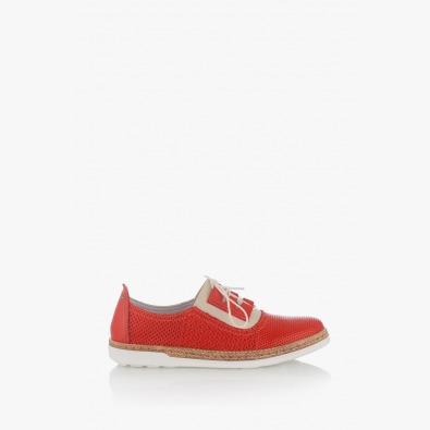 Червени дамски обувки с щампа Скарлет
