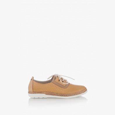Летни дамски обувки с ластик и връзки Скарлет