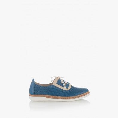 Дамски обувки в синьо с щампа Скарлет