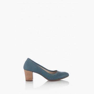 Сини дамски обувки на ток Одри