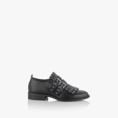 Черни дамски обувки Сандра с аксесоар