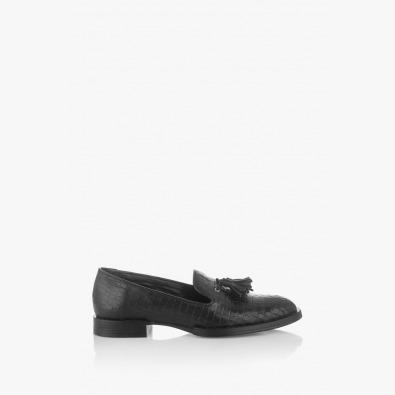 Черни дамски обувки с аксесоар Карла