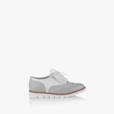 Сиви дамски обувки с аксесоар Адисан