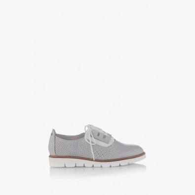 Сиви дамски ежедневени обувки с перфорация Хана