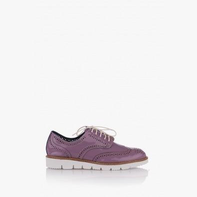 Лилави дасмки обувки с перфорация Адина