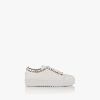 Бели дамски спортни обувки Дейзи с аксесоар