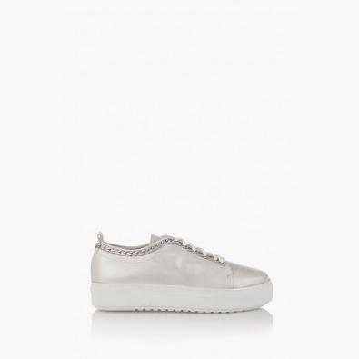 Дамски спортни обувки в сребристо Дейзи