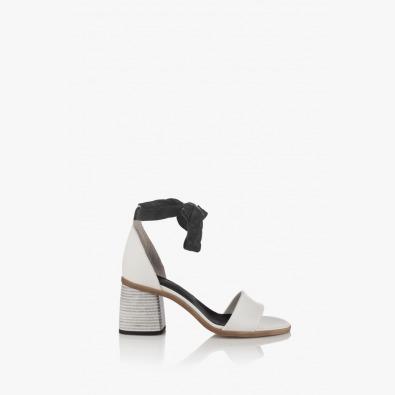 Дамски кожени сандали в бяло Теса