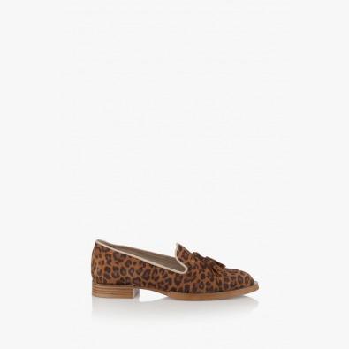 Дамски обувки с принт леопард Карла