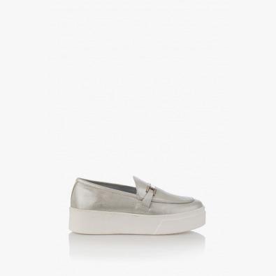 Дамски обувки на платформа в сиво Дженин
